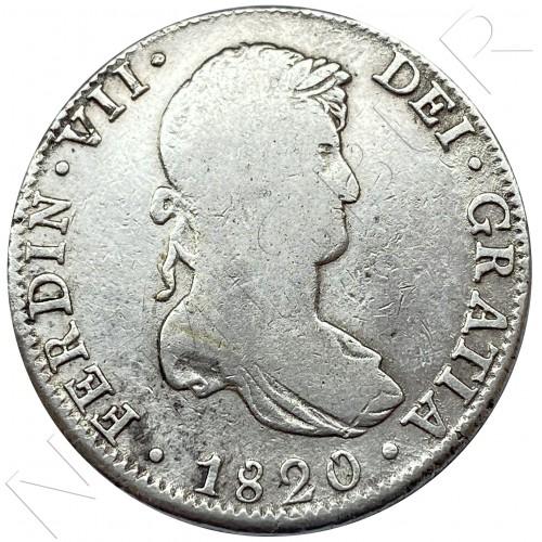 8 reales SPAIN 1820 - J.J Mexico (Fernando VII)