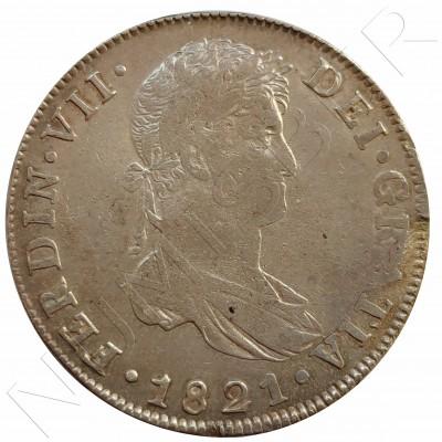 8 reales ESPAÑA 1821 - Fernando VII GUATEMALA
