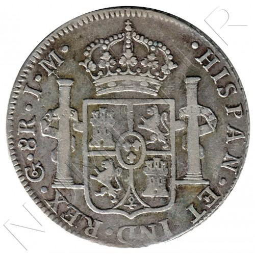 8 reales SPAIN 1822 - Guanajuato JM MEXICO (Fernando VII)