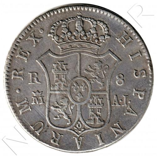 8 reales SPAIN 1824 - MADRID AJ (Fernando VII)