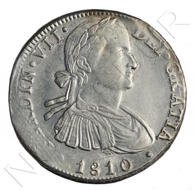 8 reales ESPAÑA 1810 - Fernando VII Mexico HJ