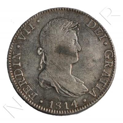 8 reales SPAIN 1814 - Fernando VII Mexico JJ