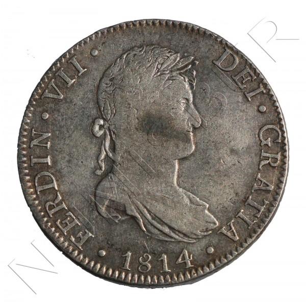 8 reales ESPAÑA 1814 - Fernando VII Mexico JJ