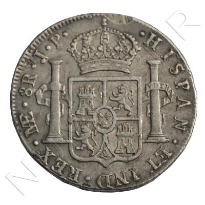 8 reales ESPAÑA 1814 - Fernando VII Lima JP