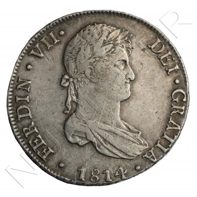8 reales SPAIN 1814 - Fernando VII Lima JP