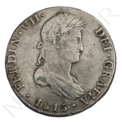 8 reales SPAIN 1815 - Fernando VII Lima PJ
