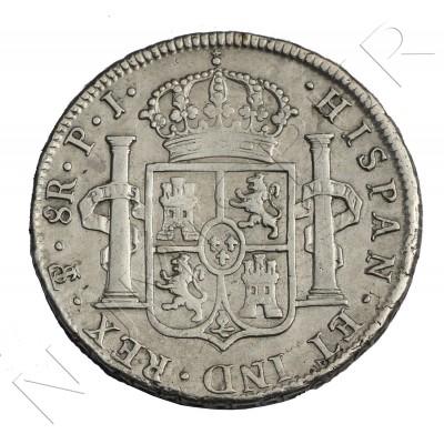 8 reales ESPAÑA 1822 - Fernando VII Potosi PJ