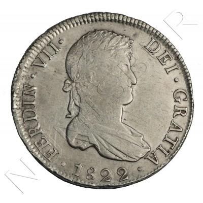 8 reales SPAIN 1822 - Fernando VII Potosi PJ