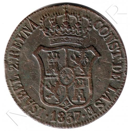 6 cuartos SPAIN 1837 - Cataluna Queen Isabel II