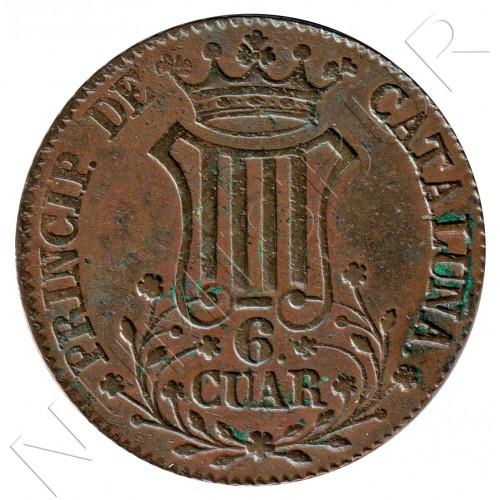 6 cuartos SPAIN 1841 - Cataluna Queen Isabel II