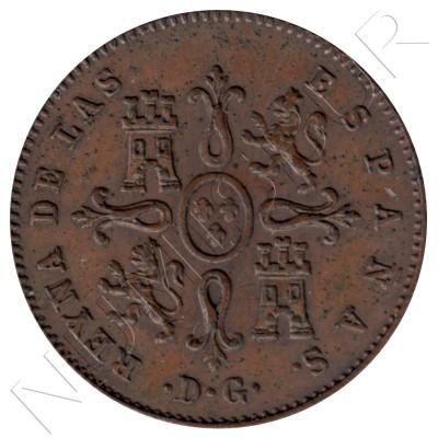 1 maravedi ESPAÑA 1842 - ISABEL II M