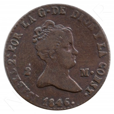 2 maravedies ESPAÑA 1846 - ISABEL II SEGOVIA #74