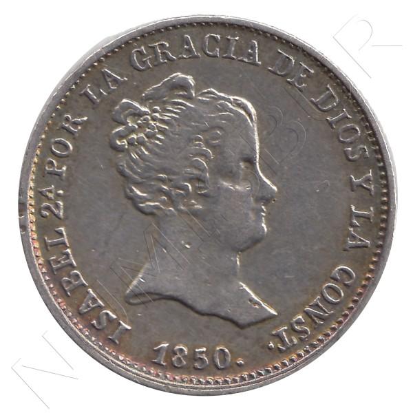 1 real ESPAÑA 1850 - Isabel II SEVILLA