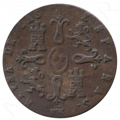 2 maravedies ESPAÑA 1850 - ISABEL II SEGOVIA #73