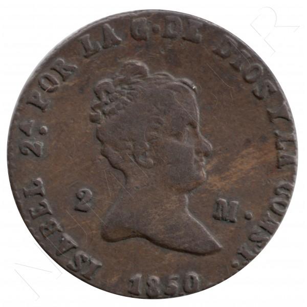 2 maravedies ESPAÑA 1838 - ISABEL II SEGOVIA #75