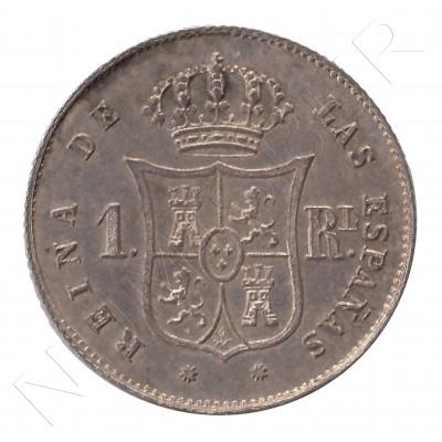1 real ESPAÑA 1852 - Isabel II BARCELONA #33