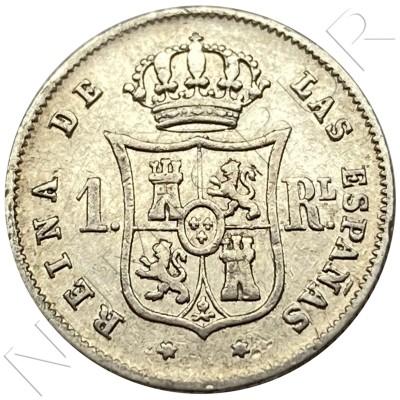 1 real SPAIN 1852 - Madrid (Isabel II)