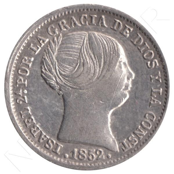 1 real ESPAÑA 1852 - Isabel II MADRID #76