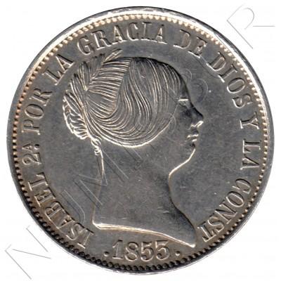 10 reales ESPAÑA 1853 - Isabel II MADRID