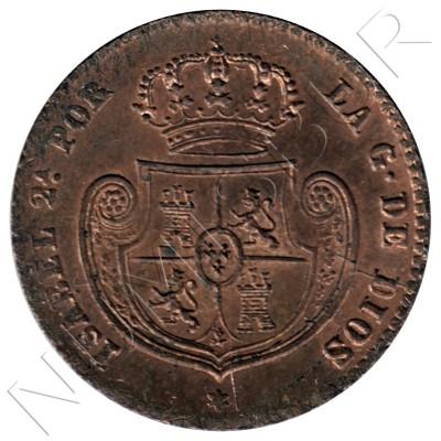 Doble decima real ESPAÑA 1853 - Isabel II Segovia