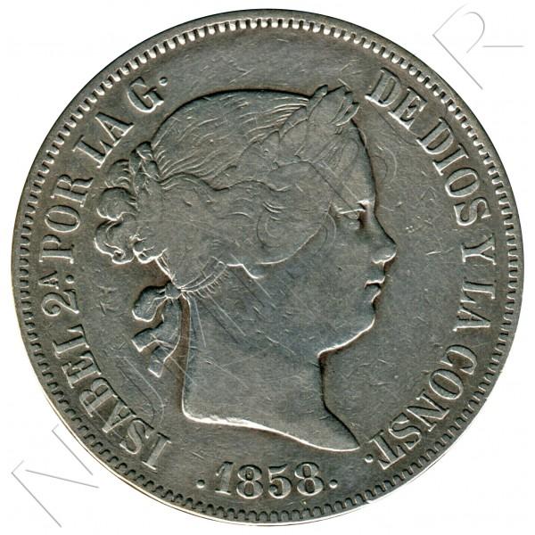 20 reales SPAIN 1858 - Isabel II MADRID