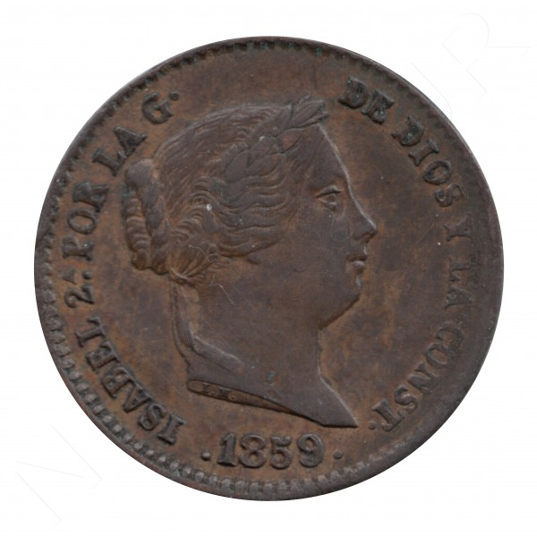 10 centimos de real ESPAÑA 1859 - Isabel II SEGOVIA #98