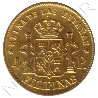 4 pesos ESPAÑA 1864 - Manila Isabel II