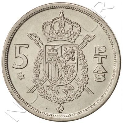 5 pesetas SPAIN 1983 UNC