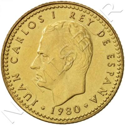 1 peseta SPAIN 1980 *80* UNC