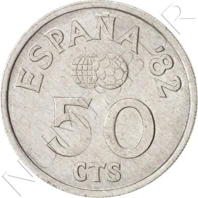 50 cents SPAIN 1980 *80* UNC