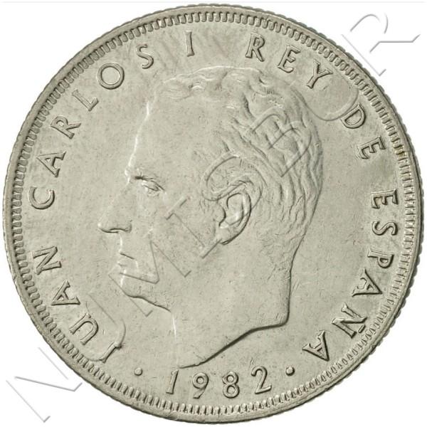 25 pesetas SPAIN 1982 UNC
