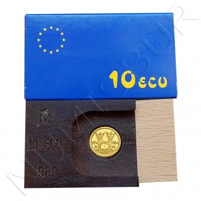 10 ecu SPAIN 1989 - GOLD