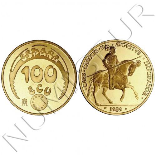 100 ecu ESPAÑA 1989 - ORO