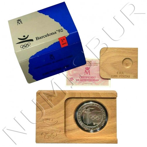 2000 pesetas SPAIN 1991 - OLYMPIC FLAME Olympics Games Barcelona 1992
