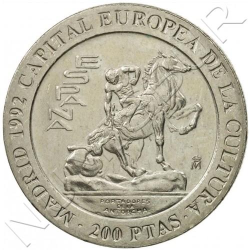 200 pesetas SPAIN 1992 - Torch Bearers UNC