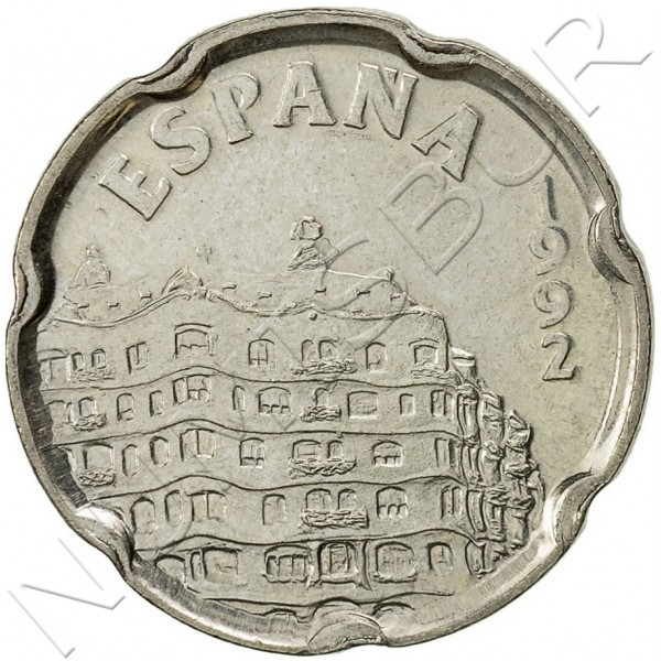 50 pesetas SPAIN 1992 - Milá House '92 UNC