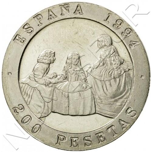 200 pesetas SPAIN 1994 - Meninas UNC
