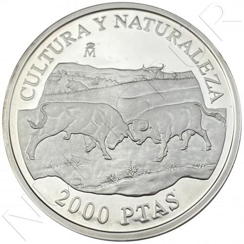 "2000 pesetas SPAIN 1994 - Fighting Bull ""Culture and Nature"""