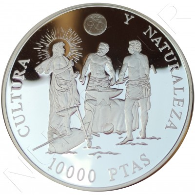 10000 pesetas SPAIN 1995 - Culture and nature