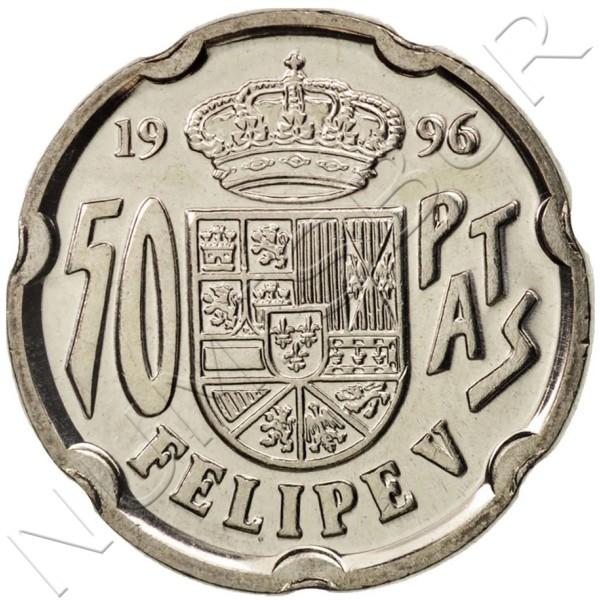 50 pesetas SPAIN 1996 - Felipe V UNC