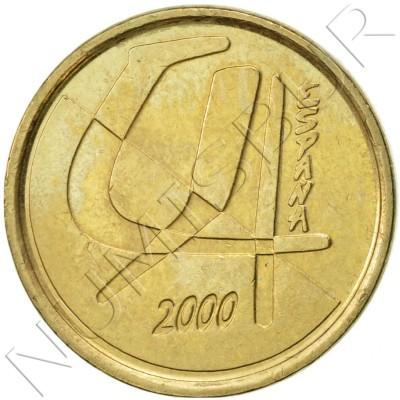 5 pesetas SPAIN 2000 UNC