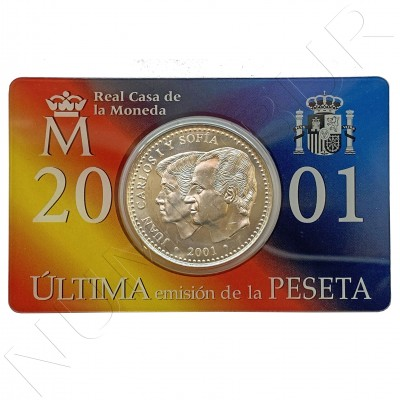 2000 pesetas SPAIN 2001 - Last issue of the Peseta (Special set)