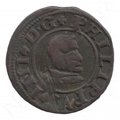 8 maravedies ESPAÑA 1661 - Felipe IV SEGOVIA S #101