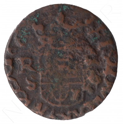 16 maravedies SPAIN 166? - Felipe IV S #112