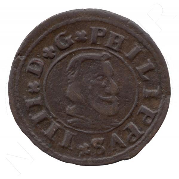 16 maravedies ESPAÑA 1664 - Felipe IV SEGOVIA B #100