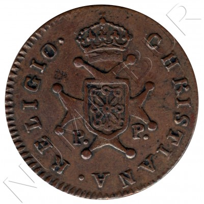 3 maravedies SPAIN 1826 - Pamplona Fernando III