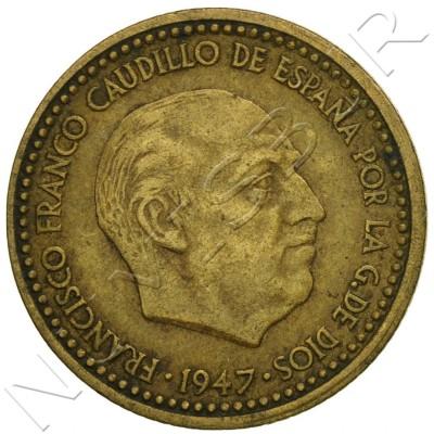 1 peseta SPAIN 1947 - Franco *54*