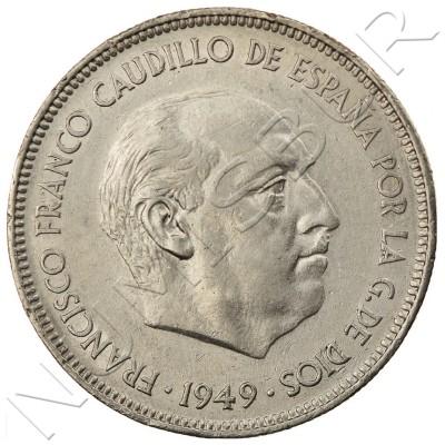 5 pesetas SPAIN 1949 - Franco *49*
