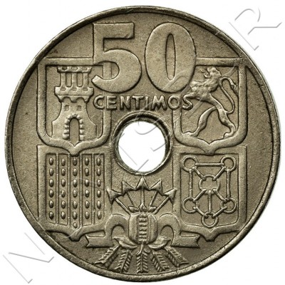 50 cents SPAIN 1949 - Franco *51*