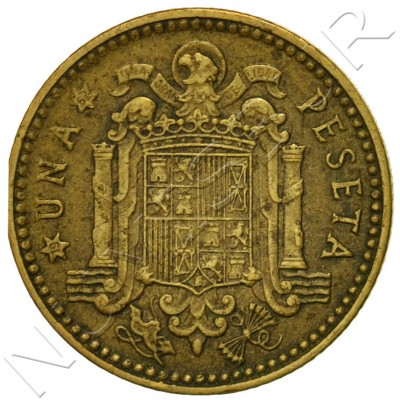 1 peseta SPAIN 1953 - Franco *62*